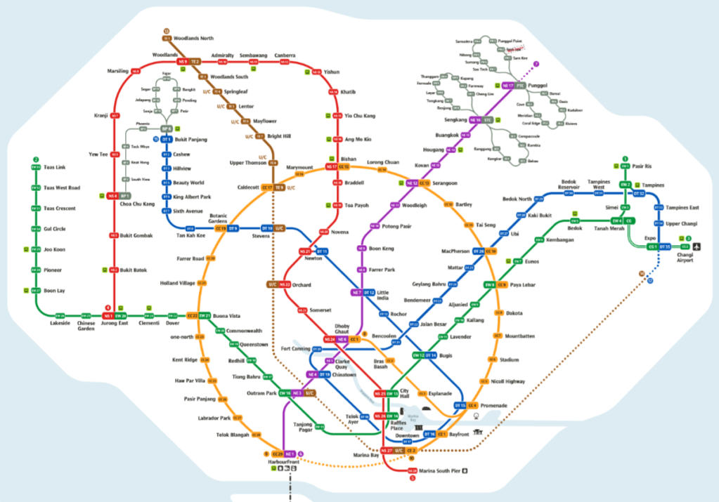 Singapore's official transit map